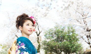 Beautiful asian kimono woman